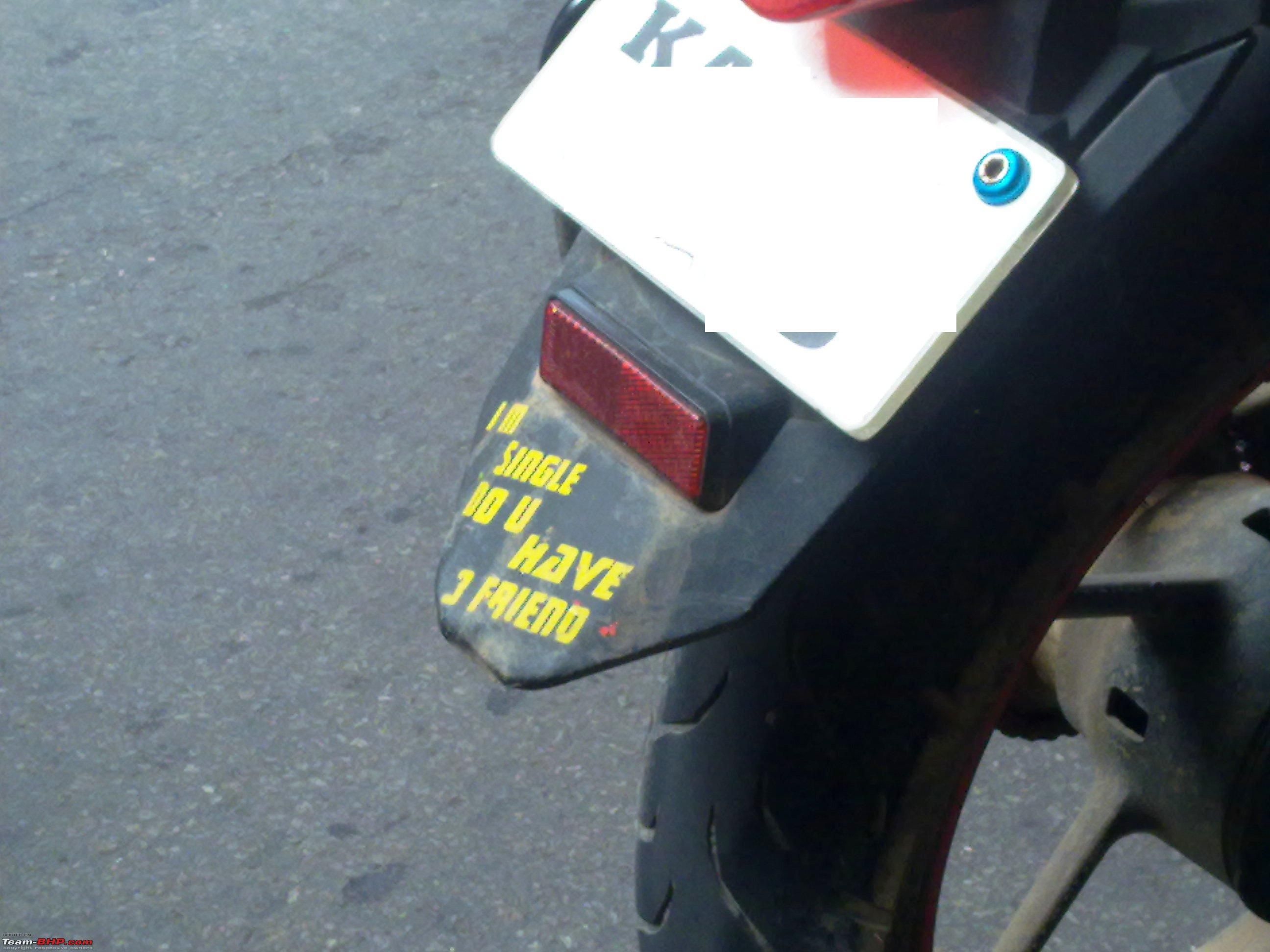 Pics of weird wacky funny stickers badges on cars bikes 20072011308