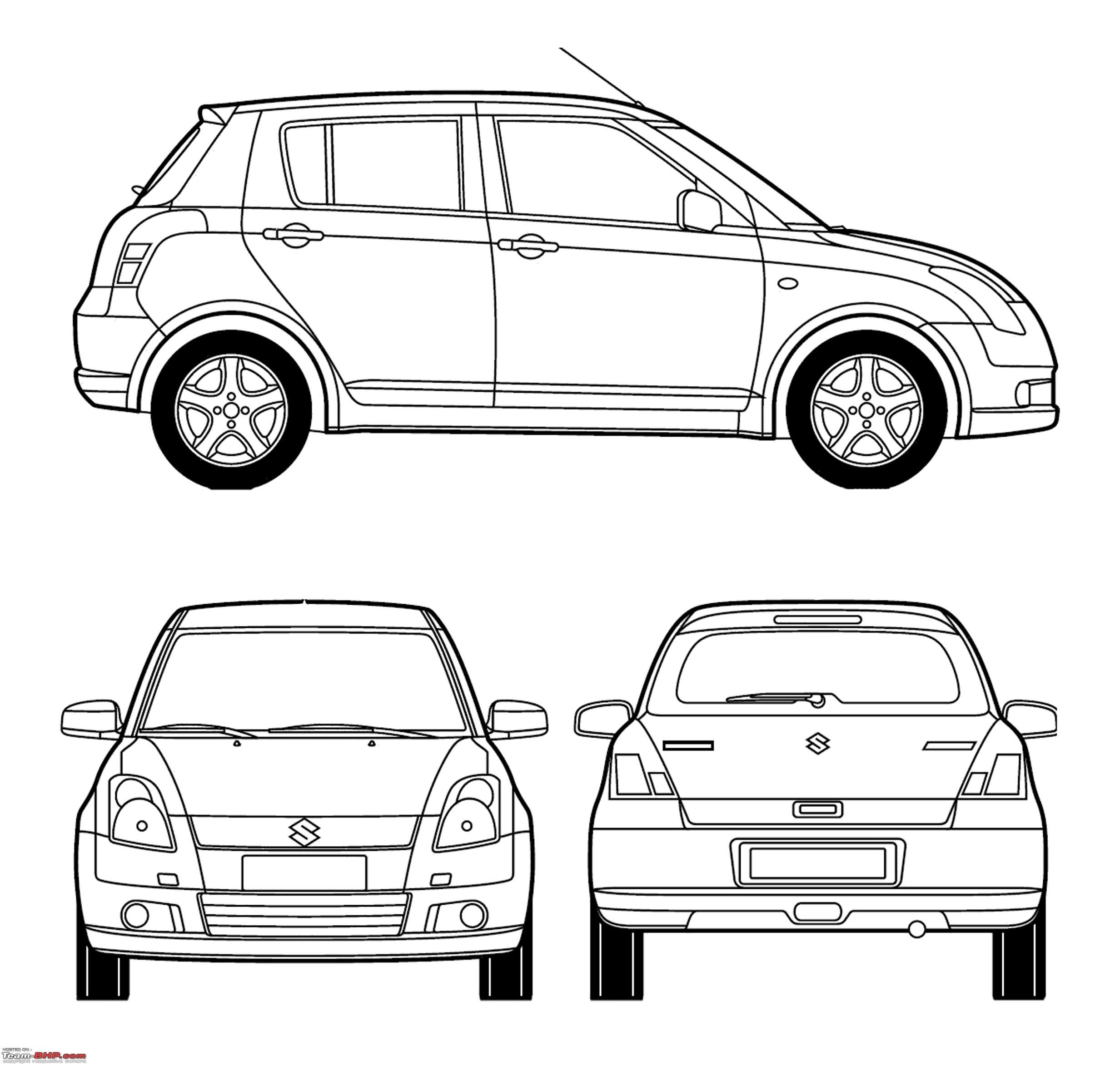 blueprints    line-drawings of cars