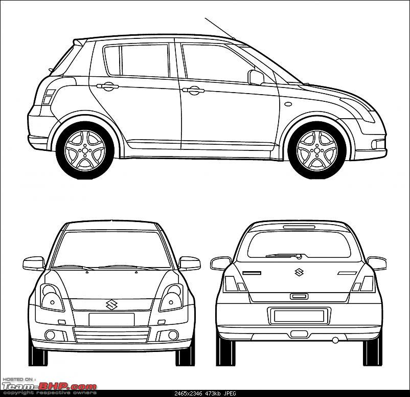 Blueprints / Line-drawings of cars - Team-BHP