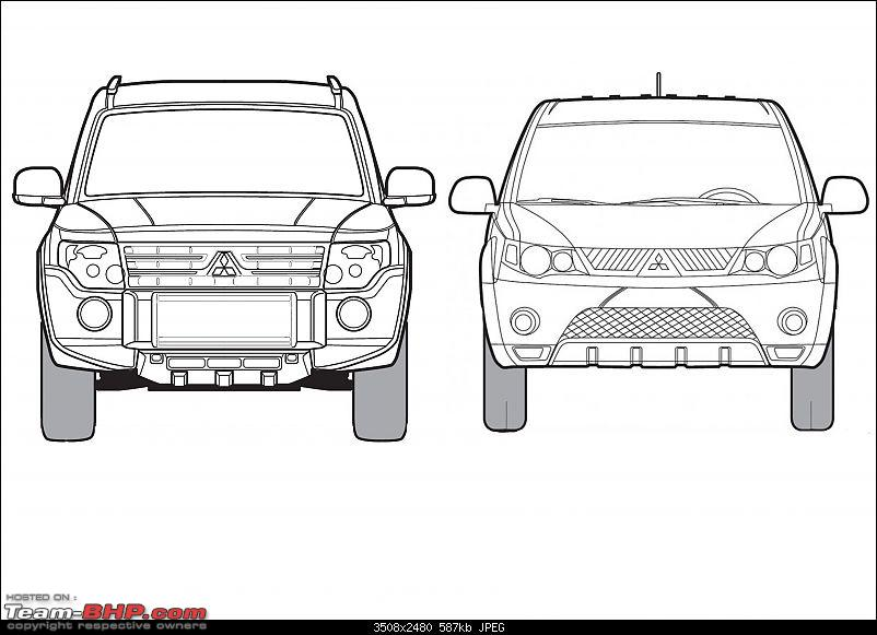 Blueprints / Line-drawings of cars-outlander-pajero.jpg