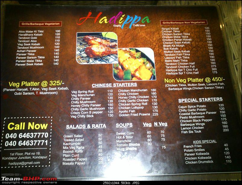 A Guide: Eating out in Hyderabad/Secunderabad/Cyberabad-hadippamenucard-1.jpg