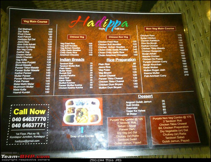 A Guide: Eating out in Hyderabad/Secunderabad/Cyberabad-hadippamenucard-2.jpg