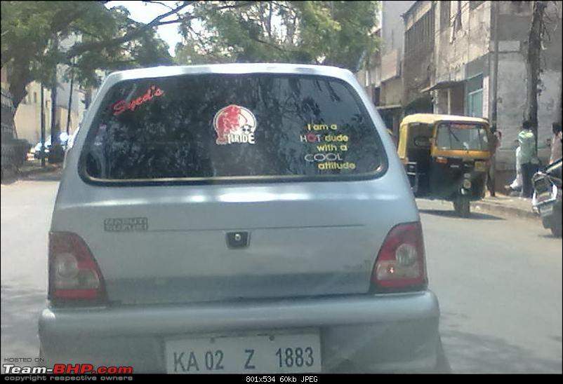 Pics of Weird, Wacky & Funny stickers / badges on cars / bikes-10032012285.jpg