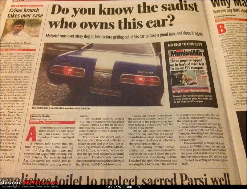 Mumbai man deliberately drives over a dog, twice. Update: Driver's story on pg.2-img_0120.jpg