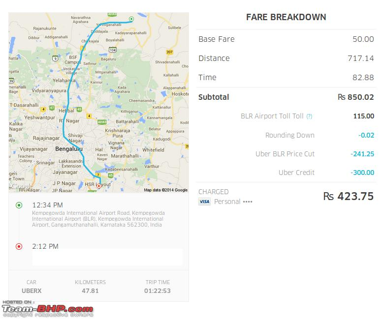 Uber Price Quote >> Review: Uber Premium Taxi Service. EDIT: Banned in Delhi ...