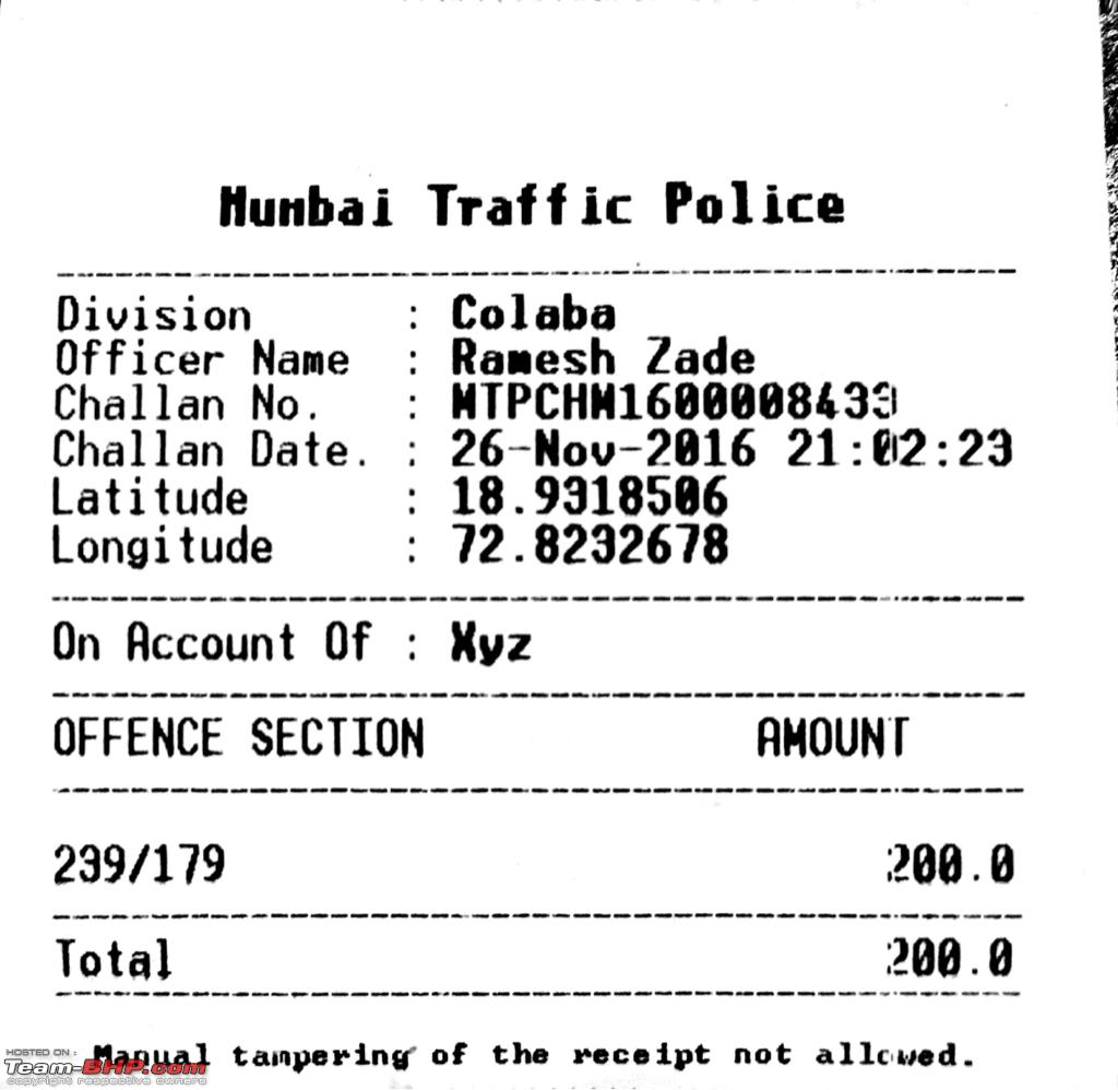 Challenging a traffic violation challan? - Page 5 - Team-BHP
