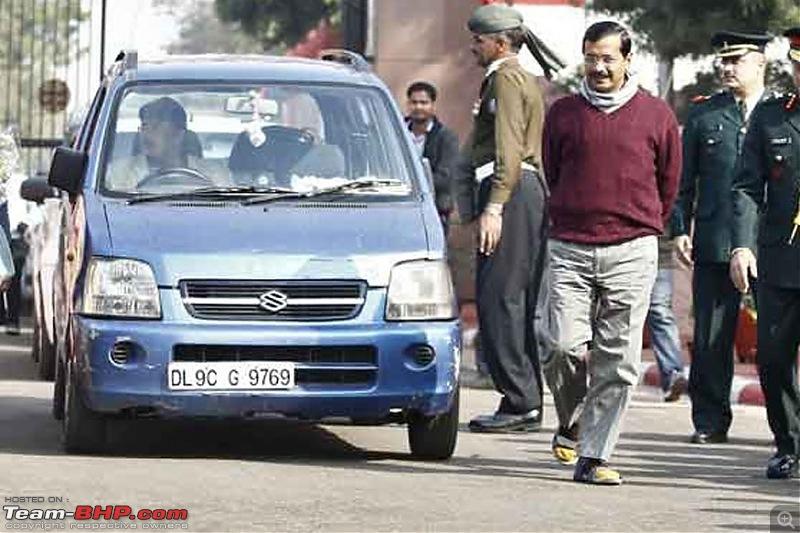 Arvind Kejriwal's WagonR stolen from the Secretariat-kejriwalcar.jpg