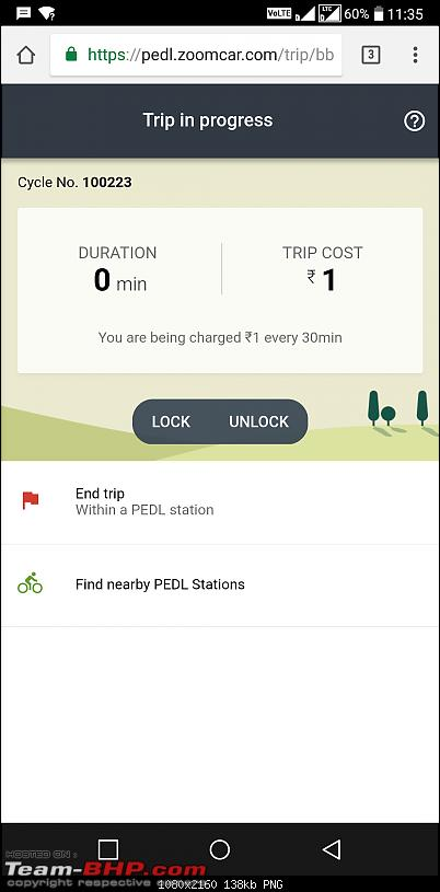 Zoomcar launches PEDL - a cycle sharing service-pedl-ss-booking-progress.png