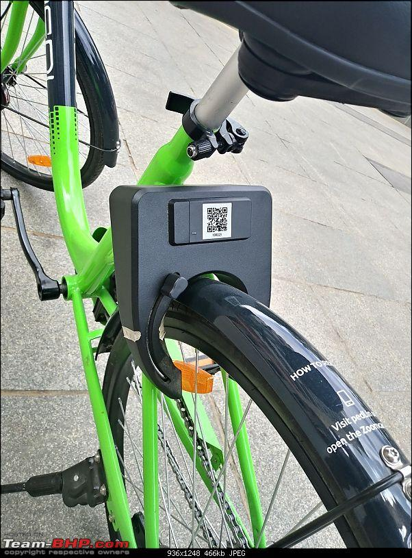 Zoomcar launches PEDL - a cycle sharing service-ped-cycle-lock.jpg
