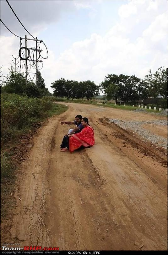 Novel Couple Photoshoot on potholed roads to grab the attention of the Government-74214094_2815527375166230_9098299883365859328_n.jpg