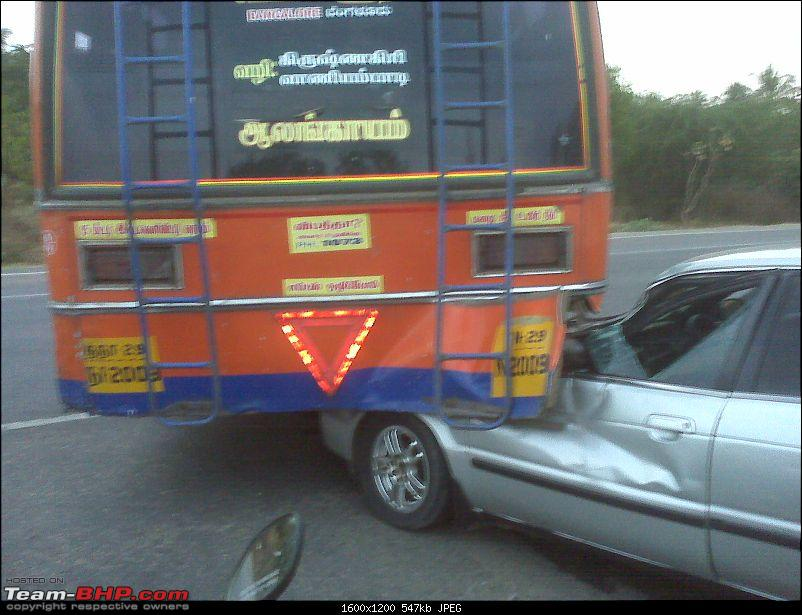 Pics: Accidents in India-baleno-rear-ending-bus-3.jpg