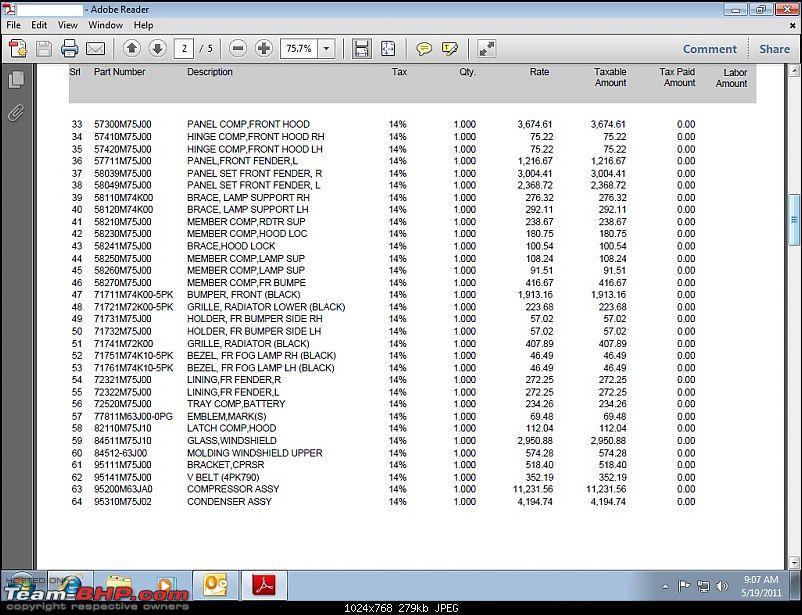Swift ZXi met an accident!-estimate2.jpg