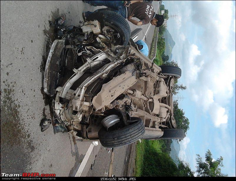 Driver ignorant of how ABS works; Turns Chevy Captiva upside down-20110914-10.48.58.jpg
