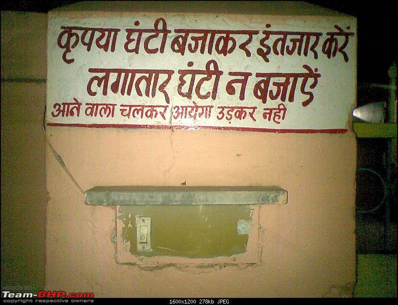 How do you stick a bell on a wall? Pics of Quirky Signs-ghanti.jpg