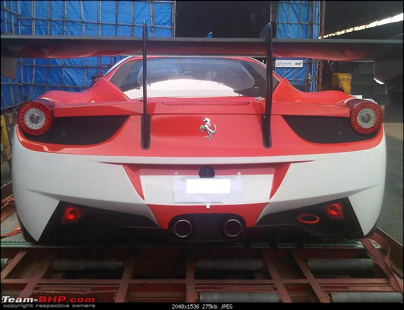 Spotted at Bombay Cargo - Ferrari 458 Challenge (GT racecar)-615480_416112575110128_1164160068_o.jpg