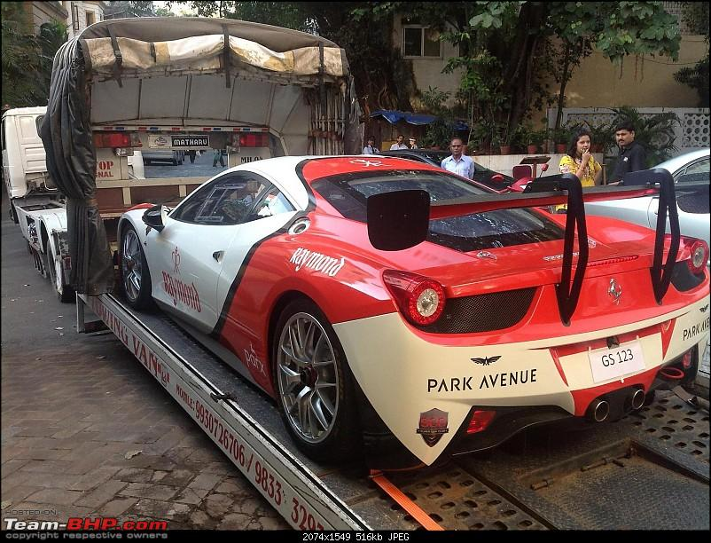Spotted at Bombay Cargo - Ferrari 458 Challenge (GT racecar)-c.jpg
