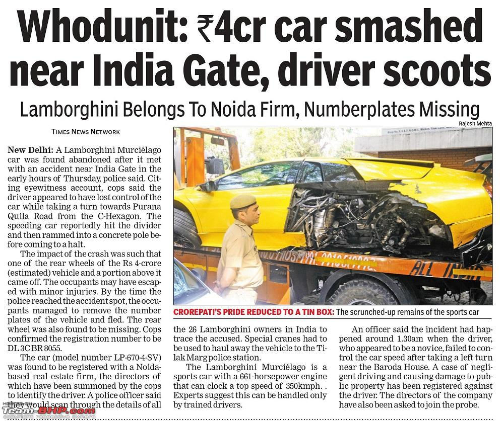 supercar & import crashes in india - page 71 - team-bhp