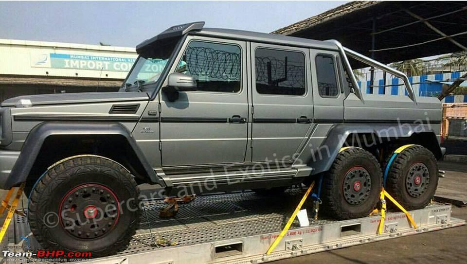 mercedes g63 6x6 amg spotted in mumbai! team bhpmercedes g63 6x6 amg spotted in mumbai!