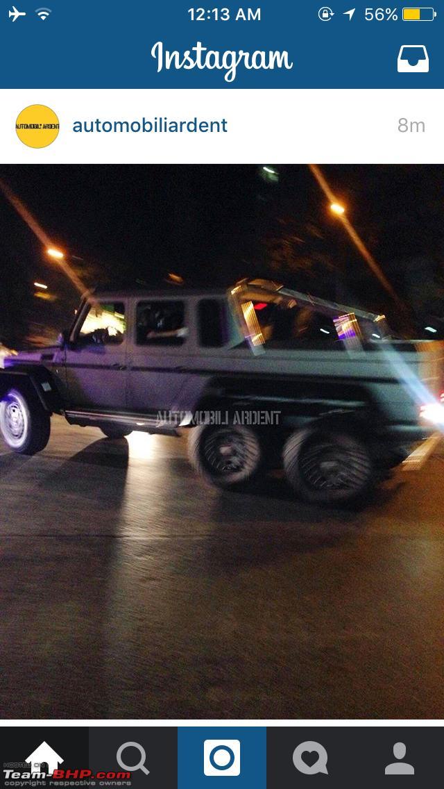Mercedes G63 6x6 Amg Spotted In Mumbai Team Bhp