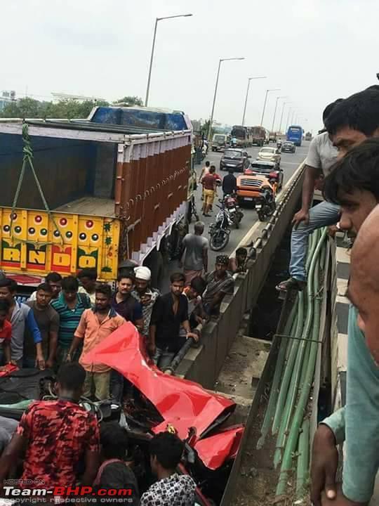 Fatal Ferrari California accident in Kolkata - Team-BHP