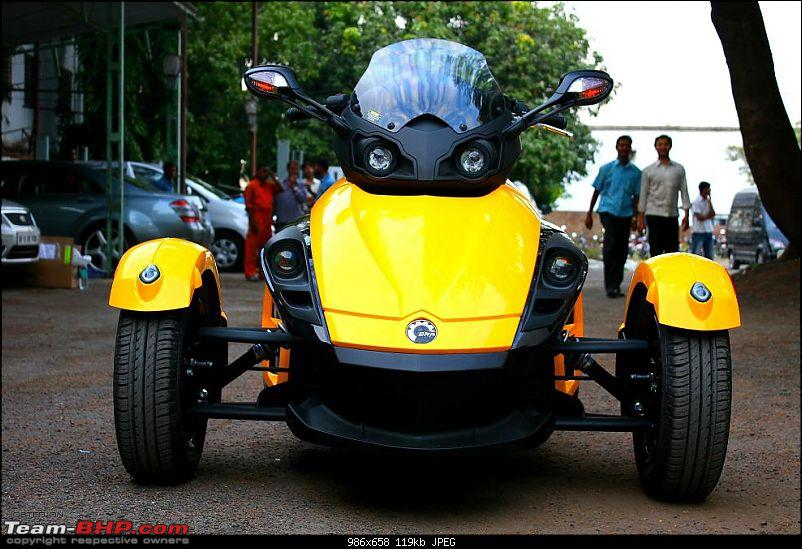 Its here.. India's First and Exclusive !! BRP Can-Am Spyder RS EDIT: Pics on Page  2-img_3563.jpg