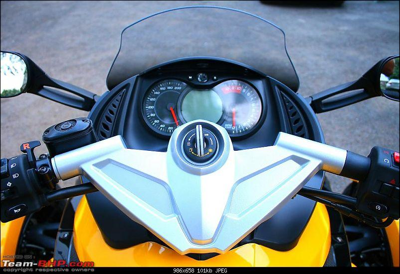 Its here.. India's First and Exclusive !! BRP Can-Am Spyder RS EDIT: Pics on Page  2-img_3573.jpg