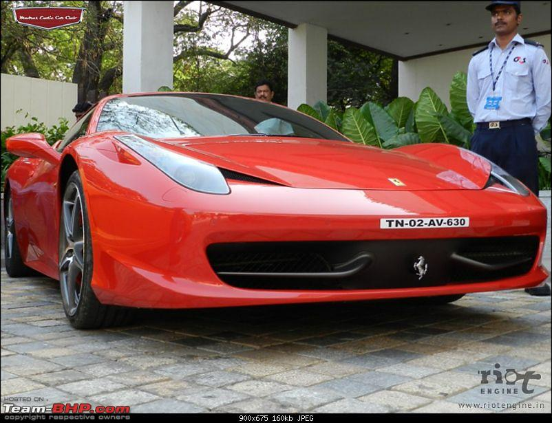 "Launch of ""Madras / Chennai Exotic Car Club"". EDIT : PICS on Page 3-ferrari458italiamadrasexoticcarsclublaunch01.jpg"