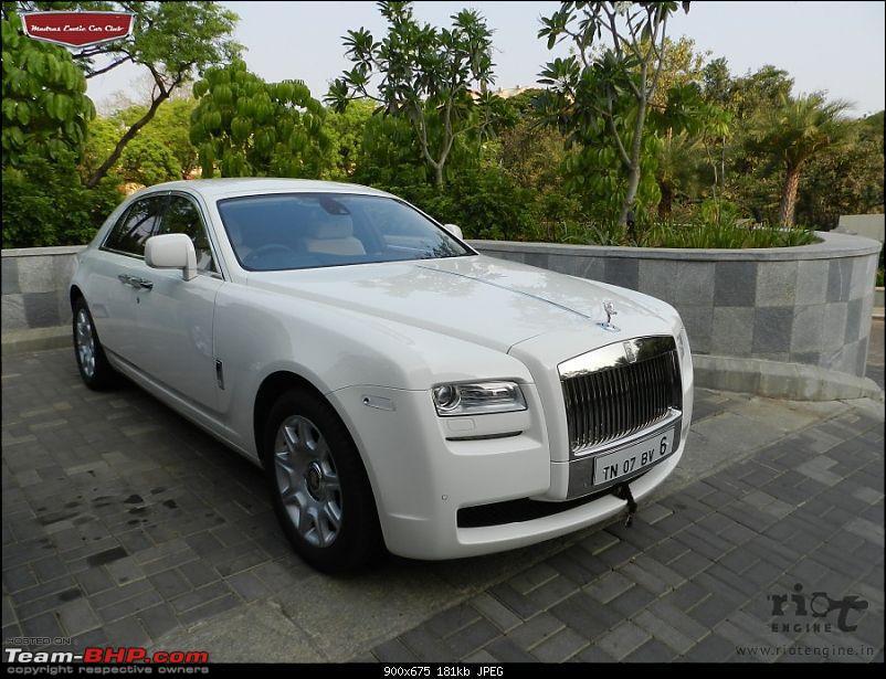 """Launch of """"Madras / Chennai Exotic Car Club"""". EDIT : PICS on Page 3-rollysroyceghostmadrasexoticcarclub02.jpg"""