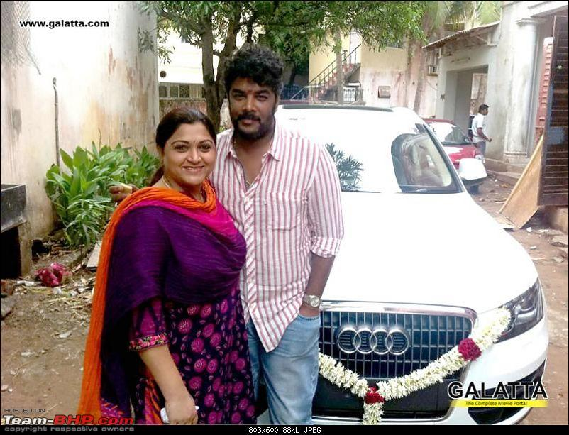 South Indian Movie stars and their cars-kushboogiftsanauditosundarc1.jpg