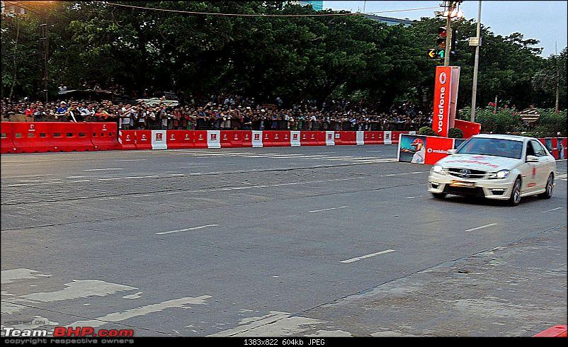 Lewis Hamilton drives the McLaren Mercedes MP4-27 at BKC, Mumbai. Report on Page 3-2.jpg