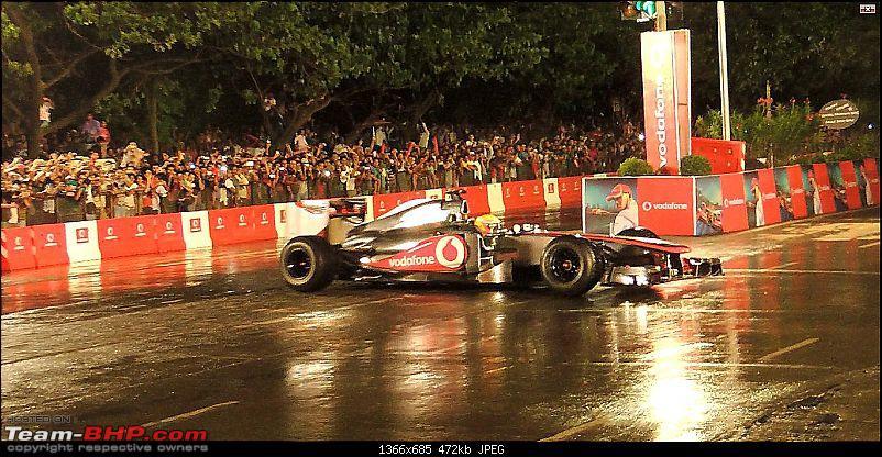 Lewis Hamilton drives the McLaren Mercedes MP4-27 at BKC, Mumbai. Report on Page 3-c-3.jpg