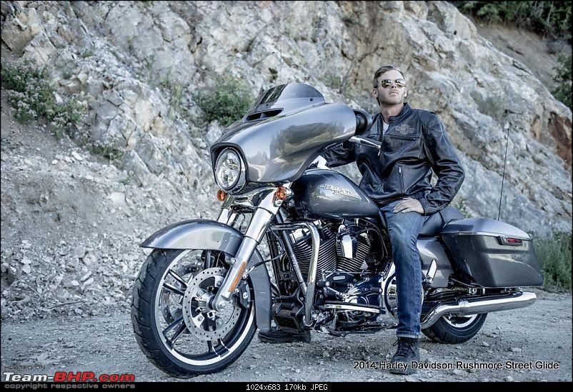 Harley Davidson launches 2014 lineup in US. In India by Nov '13-2014harleydavidsonrushmorestreetglide1.jpg
