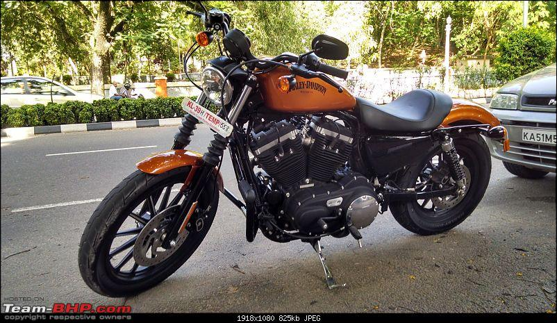 TheStig on two wheels! 2014 Amber Whiskey Harley Iron 883 comes home...-img_20140615_163201081_hdr-large.jpg