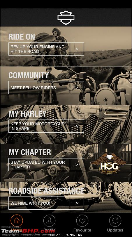 H-D India: Smartphone application from Harley-Davidson-home-1.png