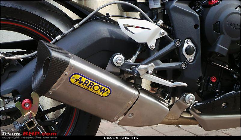 Triumph Daytona 675 flies in! Welcome home, Ravensoul-my-daytona-arrow-installed-4.jpg