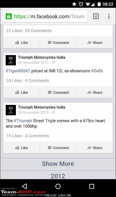 Triumph India: Sold Bikes in India with fake performance figures!-screenshot_20141129082224.png