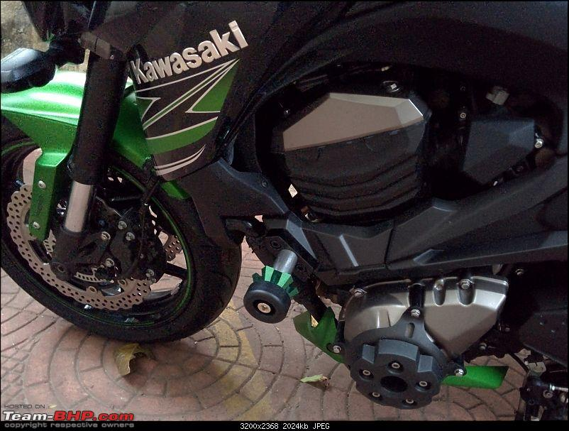 Godzilla! My monster from Japan. Kawasaki Z800, now with HP Corse Hydroform-img_20150711_190648.jpg