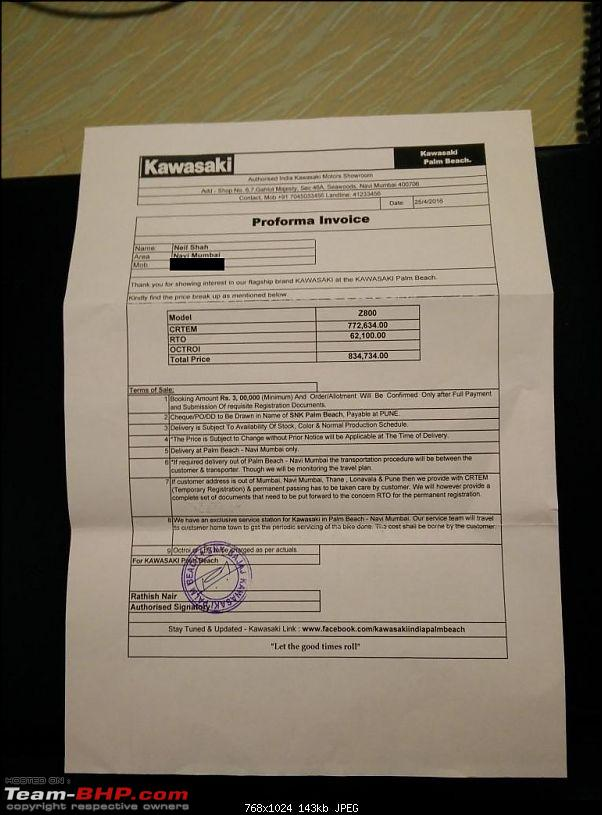 Paid for Z800, but no bike! Kawasaki uncooperative. EDIT: Bikes delivered (page 11)-proforma-invoice.jpg