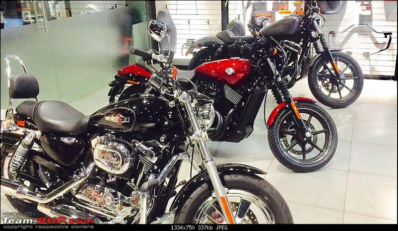 Cure for insomnia: My story of meets, helmets & affordable big bikes-harley-showroom.jpg