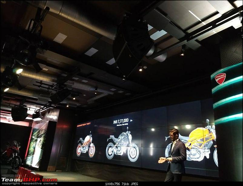 Ducati Monster 797 launched at 7.77L; Multistrada 950 at 12.6L-img_20170614_135301.jpg