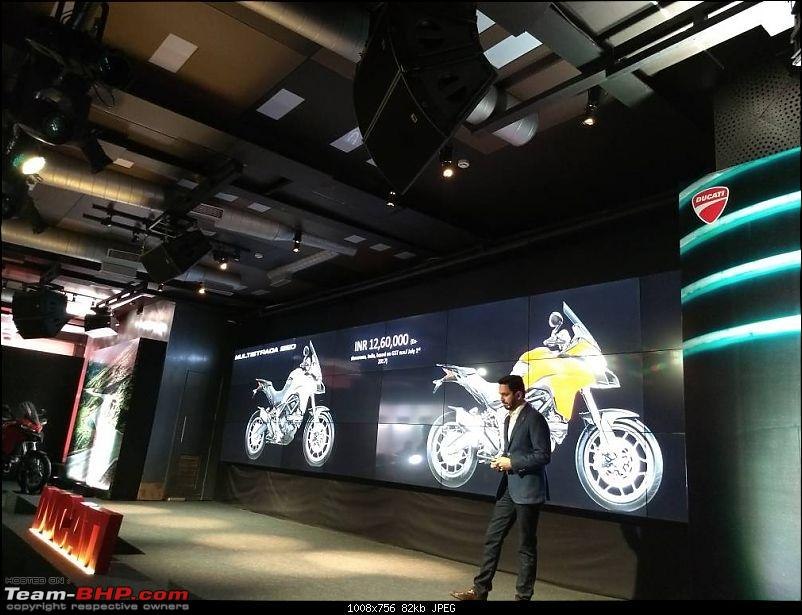 Ducati Monster 797 launched at 7.77L; Multistrada 950 at 12.6L-img_20170614_135245.jpg