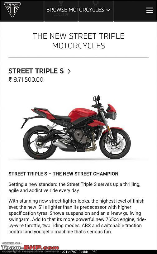Triumph Street Triple 765 - Launched at Rs. 8.50 lakh-img_20170716_182000.jpg