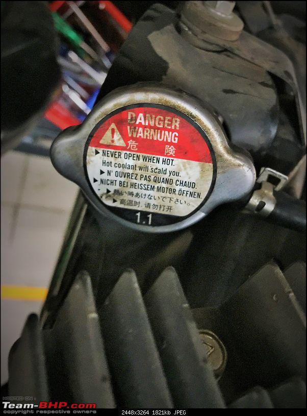 Kawasaki Versys 650:The good times with my 'Dark Knight' begin :Completes 19,500 kms !!!-radiator-limit.jpeg