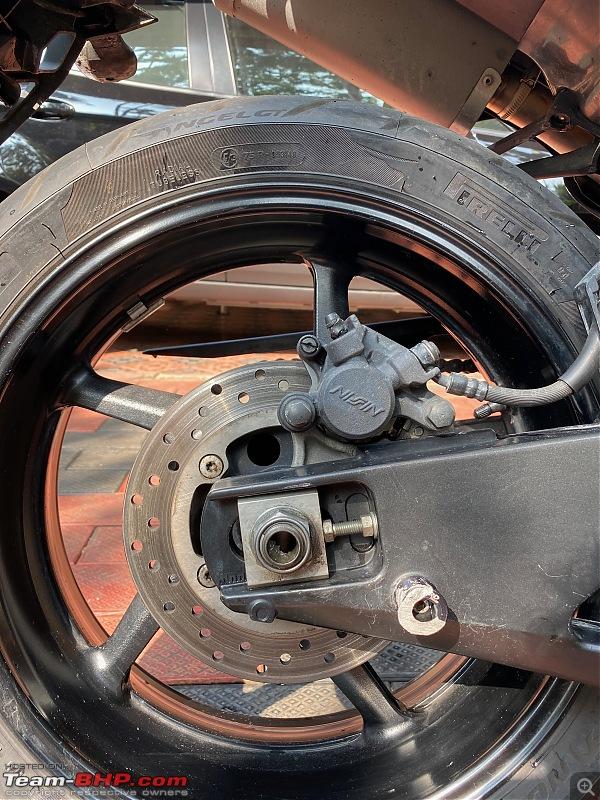 Review: My Yamaha R1 (WGP 50th Anniversary Edition)-rear_spool_crash_damage.jpeg