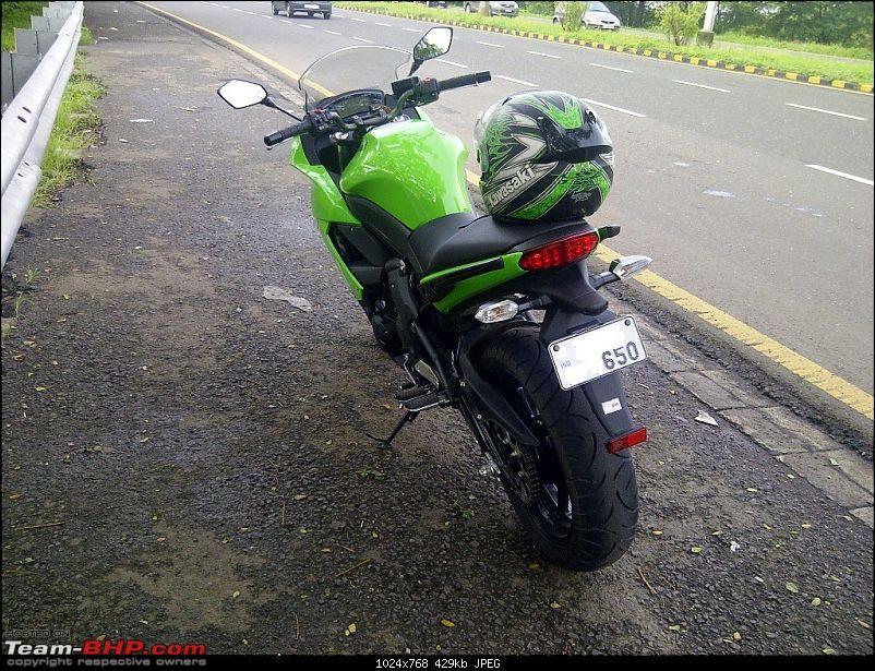 The Mean Green Big Kwacker Rides Home : My Kawasaki Ninja 650R-650r.jpg