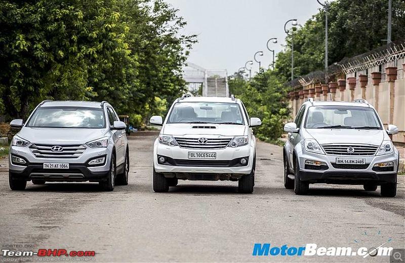 Which 7 Seater SUV for 17-25L? Endeavour vs Fortuner vs Captiva vs Pajero vs Santa-Fe-santafevsfortunervsrextonshootoutfront.jpg