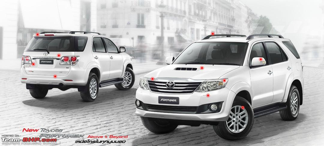 Toyota Fortuner Vs Upcoming Face Lifted Toyota Fortuner Team Bhp