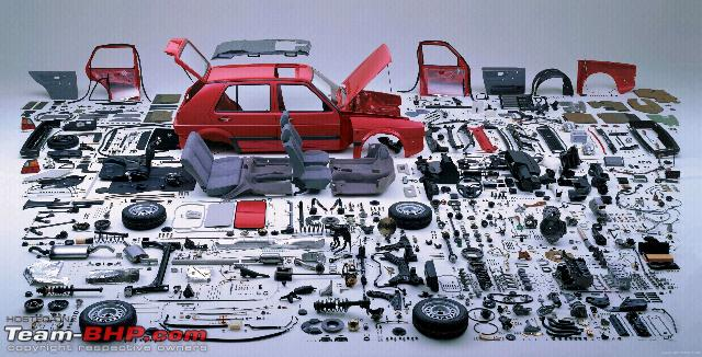 Parts Breakdown of a VW Golf - Team-BHP