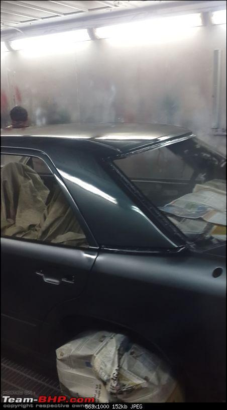 Let the Restoration Begin - Mercedes W124-first-coat-clear.jpg