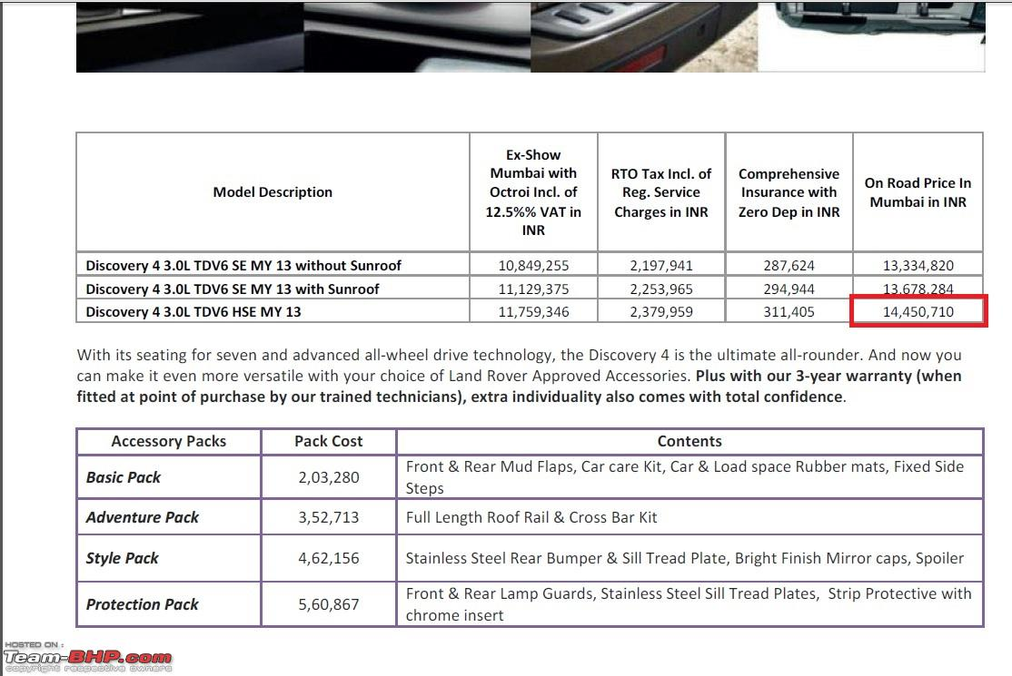 Team bhp land rover discovery 4 a near death experience for Interior design services pricing